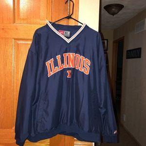 University Of Illinois Pullover Jacket XL